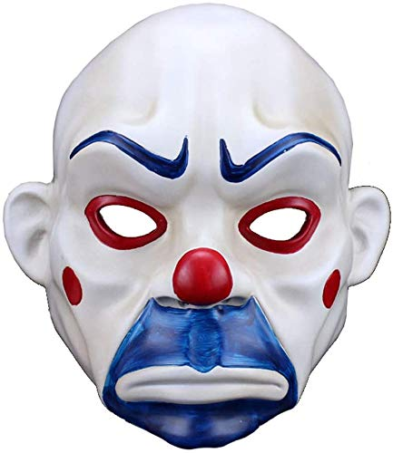 Maske Harz Halloween Maske Clown Räuber Maske Joker trauriger Film