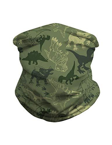 REEMONDE Bandanas Neck Gaiter Scarf Face Protection Magic Scarf Headwear for Outdoors, Festivals, Sports (Dinosaur)