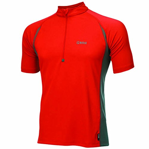 Keela Short Sleeve Zip Top Base Layer Homme Ads Advance Noir Taille XS