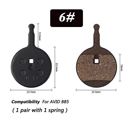 Gaodpz 1 par MTB de Aluminio de Ciclo de Cobre Rojo Fibra de Metal de Disco Pastillas de Freno for Shimano M446 355 395 BB5 Piezas de Bicicletas (Color : N06)