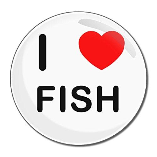 I Love Fish - Miroir compact rond de 77 mm