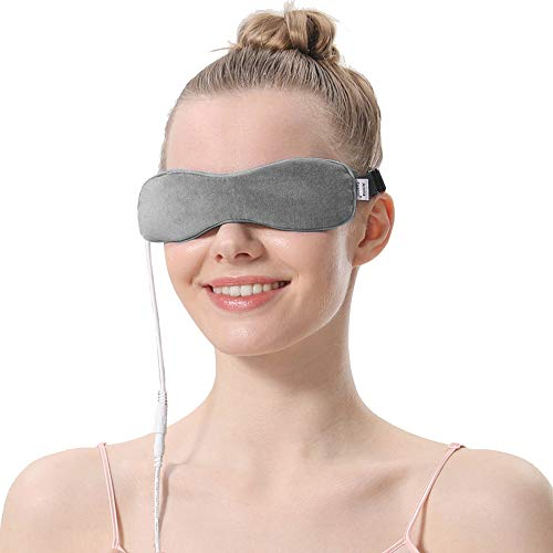 AROMA SEASON® | Elektrisch beheizbare Maske | Wärmende Augenmaske | Gegen Blepharitis, Gerstenkorn, Trockene Augen, Augenringe