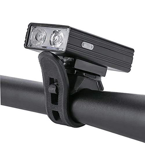 Perfeclan Luz de Bicicleta Recargable USB Ultra Brillante, Potente Faro Delantero de Bicicleta, 6 Modos de luz, fácil de Instalar para Hombres Mujeres niños - Las Luces indicadoras