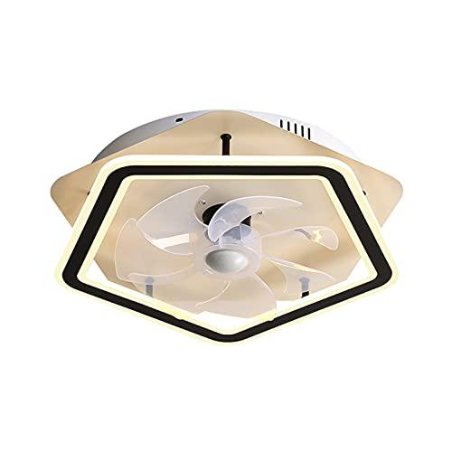 ASPZQ Ventiladores Techo Inteligentes con Luces Lámpara de Ventilador Decoración Interior Lámpara Invisible Ventilador Hogar Restaurante Sala Estudio (Color : 480*H130mm-26W, Size : 200-240V)