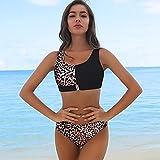 Sonze Talle Alto Retro Sexy Traje De Baño,Bañador clásico de Mujer,Divisor de Cremallera, Bikini Sexy de Playa-H_M