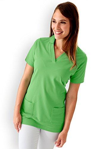 CLINIC DRESS - Damen-Longshirt Grün mit Zwei Taschen apfelgrün 38/40