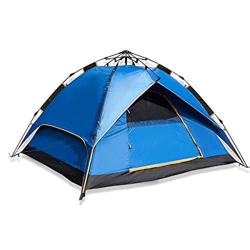 Outdoor Zelt Geschwindigkeit offenes Paar Camping-Reise-Zelt 2-4 Personen, 215 × 215 × 145 cm, blau