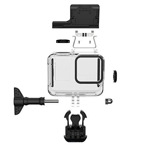 FUQUANDIAN 60 m subacuático caso impermeable para GoPro Hero 8 cubierta protectora carcasa negro lente de la cámara 60 m buceo natación accesorios soporte accesorios