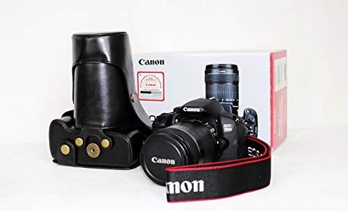 Premium Leder Case Camera Bag für Canon EOS 100D/110D/550D mit Shoulder-Strap (3 Farben verfügbar),Black