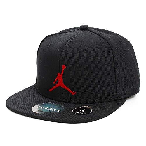 Nike Jordan Big Boys Youth Retro Snapback Hat (Black/Red, One Size 8/20)