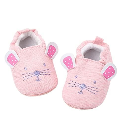 Pasgeboren baby jongens meisjes pantoffels, zachte zool antislip wieg huis schoenen, schattige dieren winter warme laarsjes wieg schoenen
