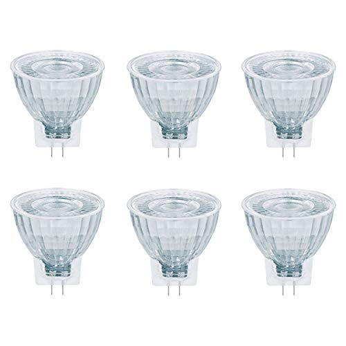 OSRAM LED STAR MR11 20 36° GU4 GLAS Strahler 2,5W = 20W 184lm warm weiß 80Ra 6er