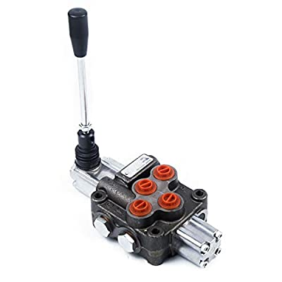 1 Spool Hydraulic Directional Control Valve Lever Return Spring Log Splitter Valve 11 GPM 45L/min 315bar Cross Hydraulic Control Valve for Tractors by Gdrasuya10