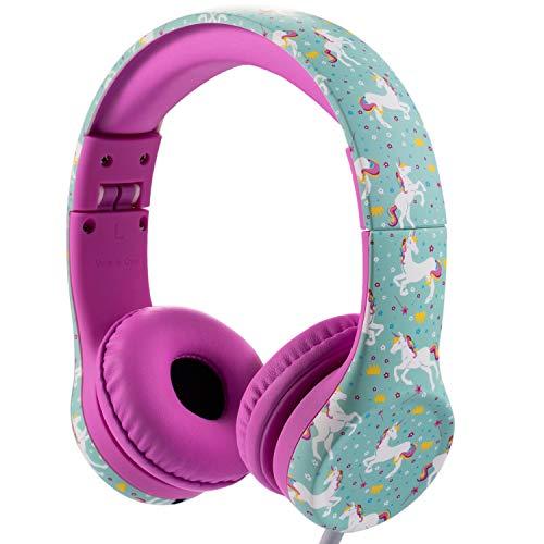 Snug Play+ Cuffie per Bambini con Limitazione del Volume e Condivisione Musica (Unicorno)
