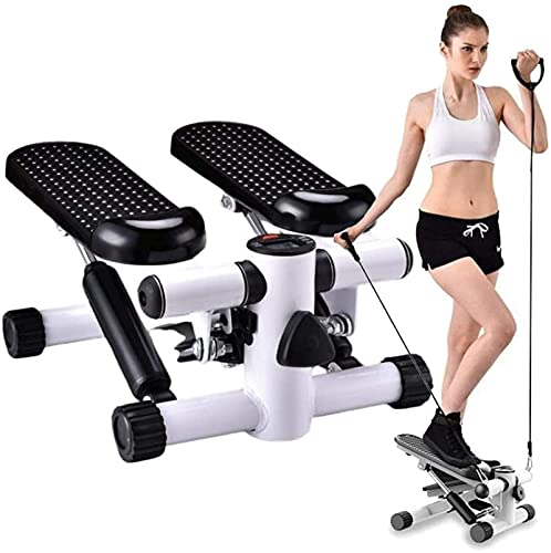 Equipment Home Gym Fitness Step Swing Stepper Machine, Mini Twist Stepper Ejercicio con pantalla LCD, Escalada de piernas para ejercicios de glúteos y cardio, pequeña y compacta, Ejercicio de rehabili