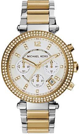 Michael Kors Reloj analogico para Mujer de Cuarzo con Correa en Acero Inoxidable MK5626