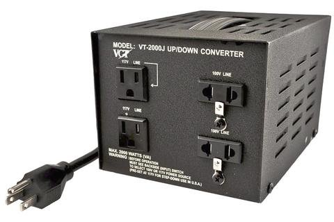 Price comparison product image VCT VT-3000J Japanese Voltage Transformer Converter 110 Volt 100v,  3000 WATT,  Black