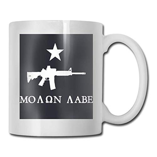 N\A Come and Take It AR-15 Molon Labe Taza de café Personalizada Taza de té Regalos Blancos T Regalos del día de la Madre, Regalos del día del Padre, Regalos para Abuelos