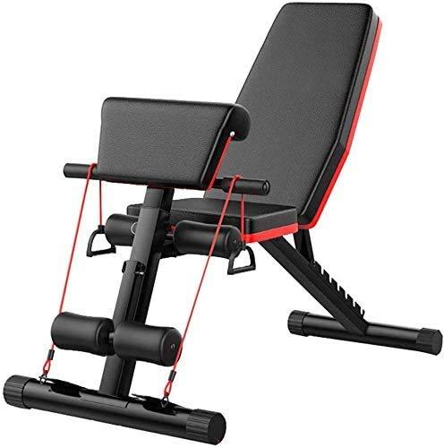 Banco de pesas BetterShopDay ajustable y plegable para gimnasio en casa. Banco romano ajustable para entrenamiento, sentadillas, abdominales, pesas y fitness. Color negro