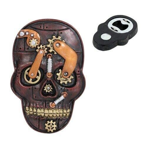 Steampunk Gearwork Clockwork Skull Magnetic Bottle Opener Refrigerator Gadget - Favorite Decor Store