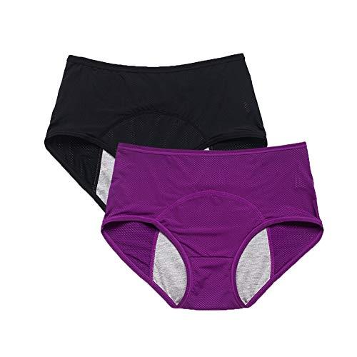 assorbendo l/'umidità Mutande Pantaloni UK slip 2 WOMEN/'S antibatterico Bambù