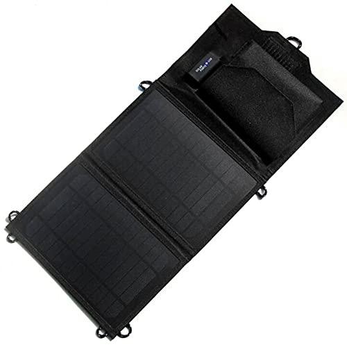 EastMetal Cargador de Panel Solar, Banco de Energía Portátil de 8W con 2 Paneles Solares Plegables, Cargador Solar de Emergencia a Prueba de Agua con Puerto USB, para Smartphone Outdoor Campamento