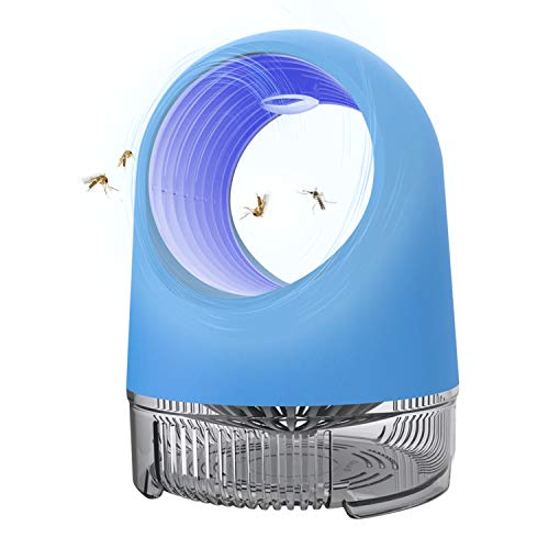 GAKUS 2020 Fruit Fly Trap Bug Zapper Inhaler,Mosquito Killer Indoor Insect Trap,USB Power Supply,LED Light UV Inhaler Trap Lamp, Mosquito Lamp Suitable for Indoor Residential,Office,Non-Toxic (Blue)