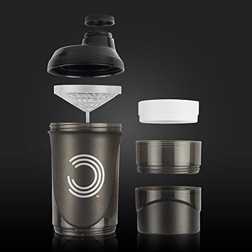 BULK POWDERS Pro Series Storage Shaker, Black, 600 ml