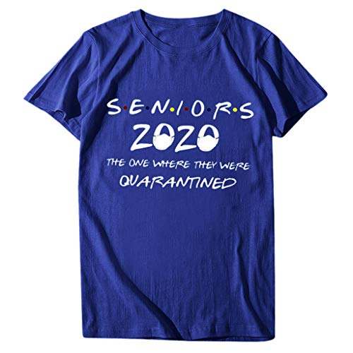 ZEFOTIM New Top, Seniors 2020 The One Where They were Quarantined Social Distancing T-Shirt