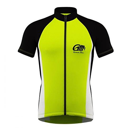 Trikot Radtrikot Fahrradtrikot Fahrrad Radler-Trikot Shirt, Größe:M;Farbe:Grün