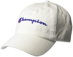 Champion Men's Ameritage Dad Adjustable Cap, white, OS