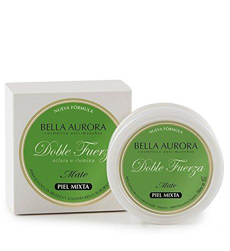 Bella Aurora Doble Fuerza Crema Anti-Manchas, con Acabado Mate, Tratamiento Aclarante e Ilumina, Facial, Para Piel Mixta-Grasa, 30 ml.