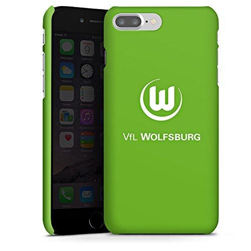 DeinDesign Premium Case kompatibel mit Apple iPhone 8 Plus Smartphone Handyhülle Hülle matt VFL Wolfsburg Wappen Offizielles Lizenzprodukt