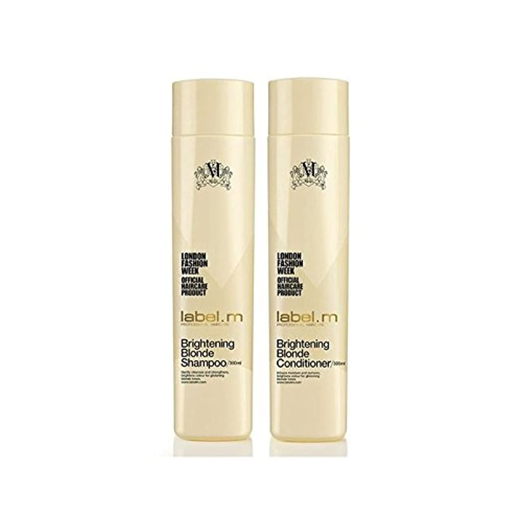均等に良心経度Label.M Brightening Blonde Shampoo And Conditioner (300ml) Duo (Pack of 6) - .ブロンドシャンプー及びコンディショナー(300ミリリットル)デュオを明るく x6 [並行輸入品]