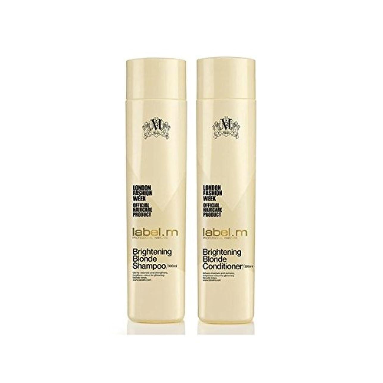 開拓者小川ソケットLabel.M Brightening Blonde Shampoo And Conditioner (300ml) Duo - .ブロンドシャンプー及びコンディショナー(300ミリリットル)デュオを明るく [並行輸入品]