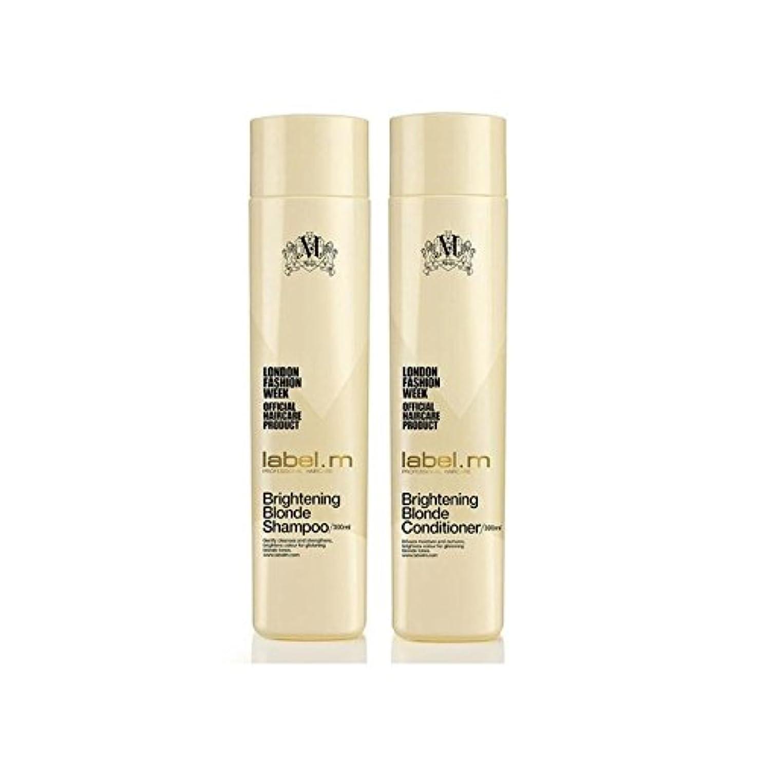 同化不誠実望まない.ブロンドシャンプー及びコンディショナー(300ミリリットル)デュオを明るく x4 - Label.M Brightening Blonde Shampoo And Conditioner (300ml) Duo (Pack of 4) [並行輸入品]