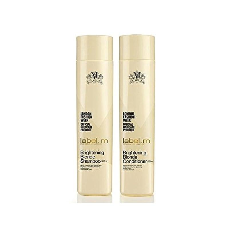 モルヒネかんたん規制.ブロンドシャンプー及びコンディショナー(300ミリリットル)デュオを明るく x4 - Label.M Brightening Blonde Shampoo And Conditioner (300ml) Duo (Pack of 4) [並行輸入品]