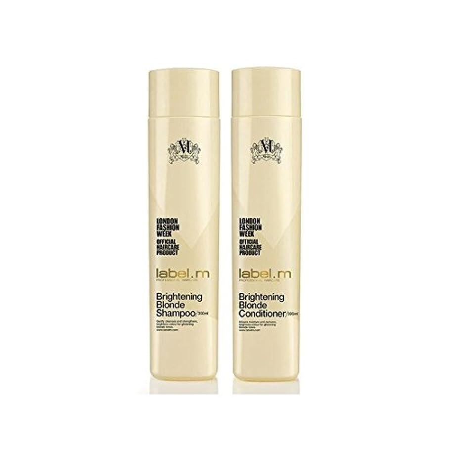 無意味原油失礼Label.M Brightening Blonde Shampoo And Conditioner (300ml) Duo - .ブロンドシャンプー及びコンディショナー(300ミリリットル)デュオを明るく [並行輸入品]