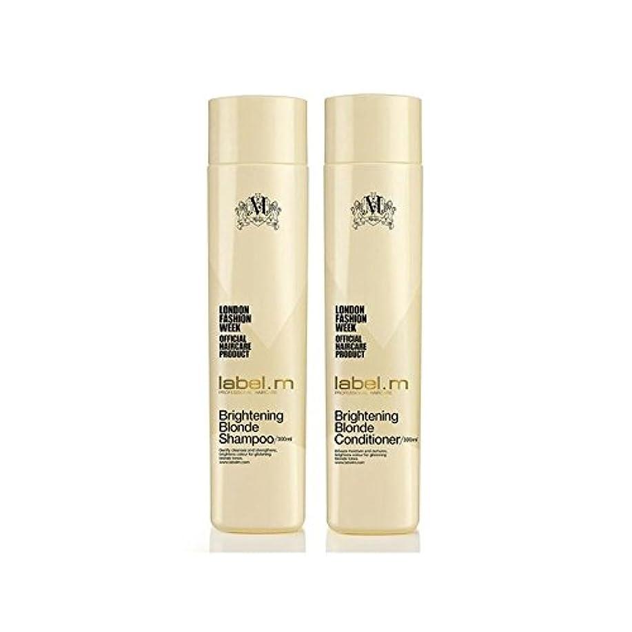 人差し指フライト現像.ブロンドシャンプー及びコンディショナー(300ミリリットル)デュオを明るく x4 - Label.M Brightening Blonde Shampoo And Conditioner (300ml) Duo (Pack of 4) [並行輸入品]