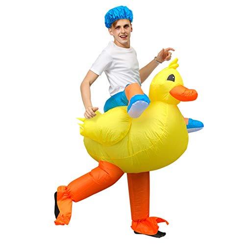 BSLBBZY Disfraces de Halloween animado de Cosplay Disfraz adulto pato inflable Traje divertido vestido de fiesta de Carnaval Ropa inflable popular
