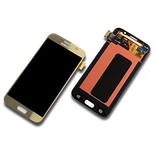 Samsung G920 F Galaxy S6 LCD Touch Screen Display Glas Front GOLD Original Neu mit Service Pack