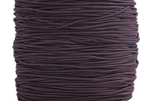 KONMAY 1 Roll 50 Yards 1.5mm Brown Elastic Stretch Beading Cord Elastic String for Beading, Jewelry Making, Crafting, Clothing