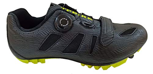 TPBIKE Mens Mountain Cycling Shoes, Mens Mountain Bike Shoes, Mountain Lock Bicycle Shoes, Riding MTB Cycling Shoes (Numeric_7_Point_5) Black