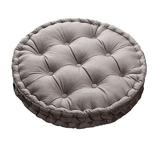GSPURS Cojín redondo suave para silla, cómodo, para el hogar, cocina, jardín, comedor, oficina, decoración del coche, 60 x 60 cm, muchos colores disponibles A-hellgrau
