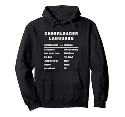 Lustige Cheerleader-Sprache Cheerleading Slang Bedeutung Pullover Hoodie