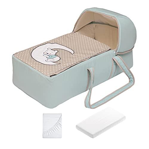 Bambineto para bebé mini cuna con colchón (Pooh Soñador)