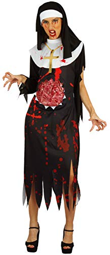 U LOOK UGLY TODAY Halloween Kostüm Damen Nonne Zombie Vampir Spitze Kleid Cosplay Karneval Abendkleid Verkleidungsparty Dress Up- S/M - 42