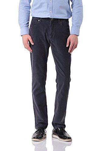 Pau1Hami1ton Pantalones De Pana Algodón Slim Fit Casual para Hombre PH-06(36,Gris)