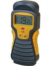 Brennenstuhl fuktdetektor MD (fuktmätare för trä/väggar/byggmaterial med LCD-display) antracit/gul