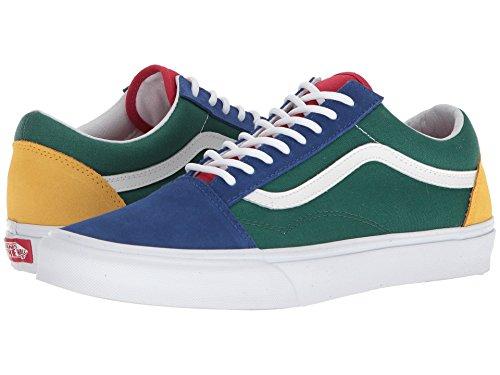 Vans Men's Old Skool, (Vans Yacht Club) Blue/Green/Yellow, Size 6